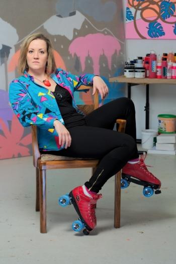 1215: Marianne Vlaschits (Artist, Roller Girl)