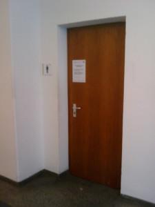 Toilet door at a well strict school