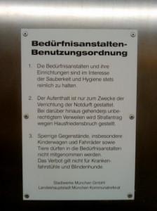 Bedürfnisanstalten-Benutzungsordnung (Munich Metro)